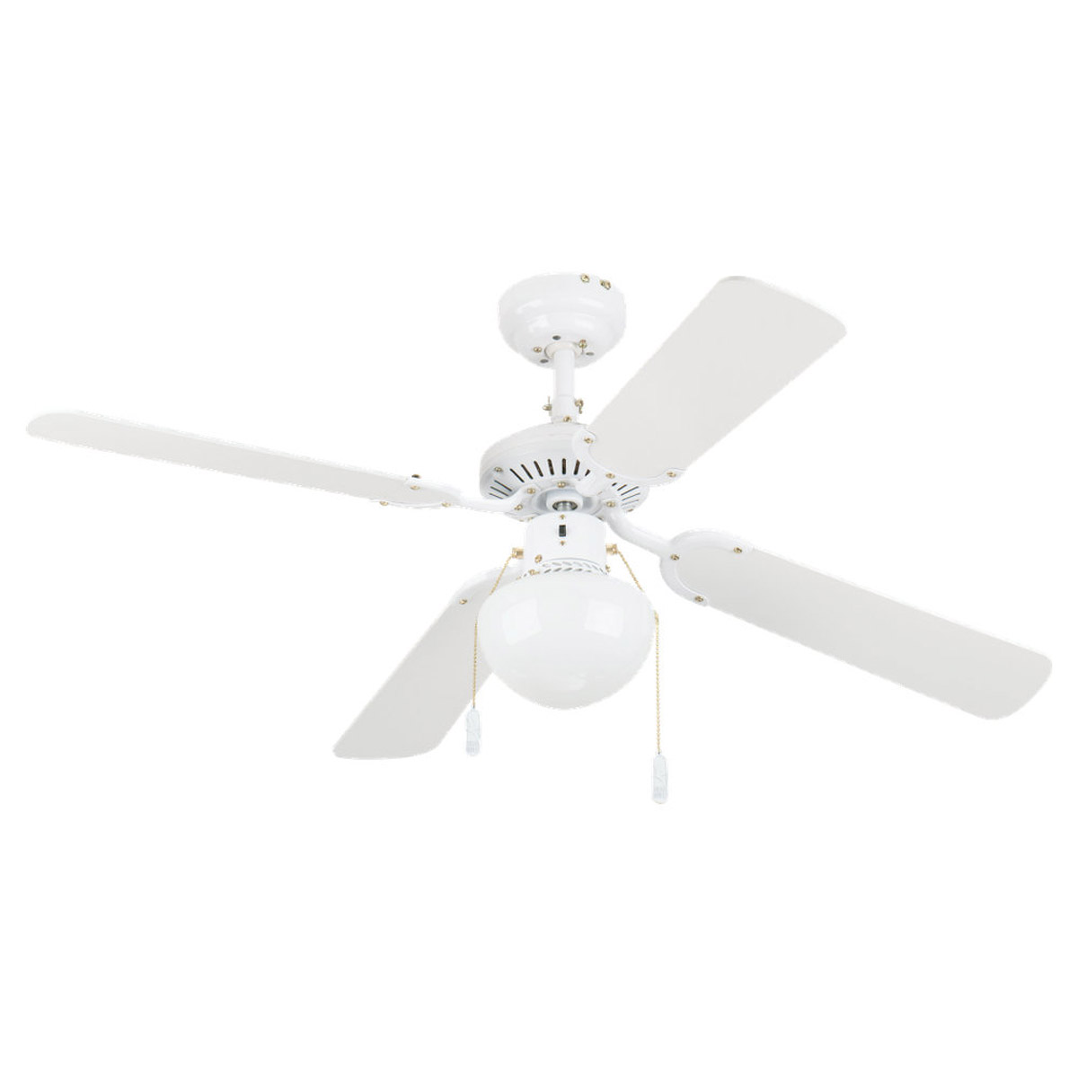 Sea Gull Lighting Hatteras Fans 1 Light Outdoor Ceiling Fan in White 15124BL-15