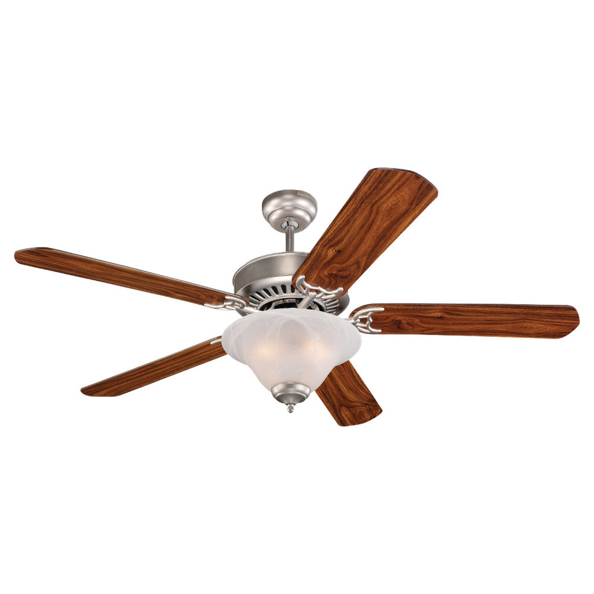 Sea Gull Lighting 3 Light 52in Quality Pro Deluxe Ceiling Fan in Brushed Pewter 15160B-255