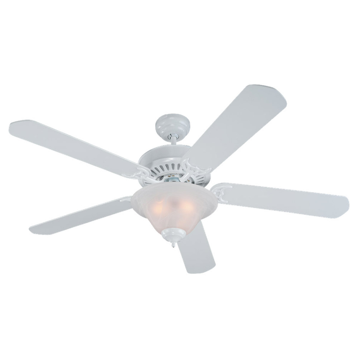 Sea Gull Lighting 3 Light 52in Quality Pro Deluxe Ceiling Fan in White 15162B-15