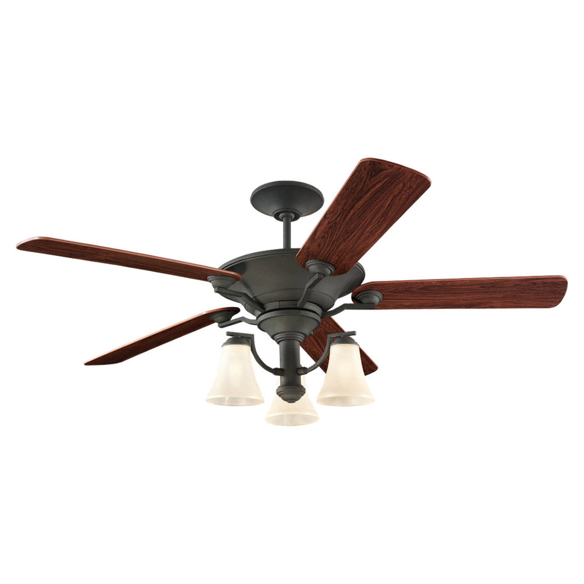 Sea Gull Lighting 3 Light 56in Somerton Ceiling Fan in Blacksmith 15170B-839