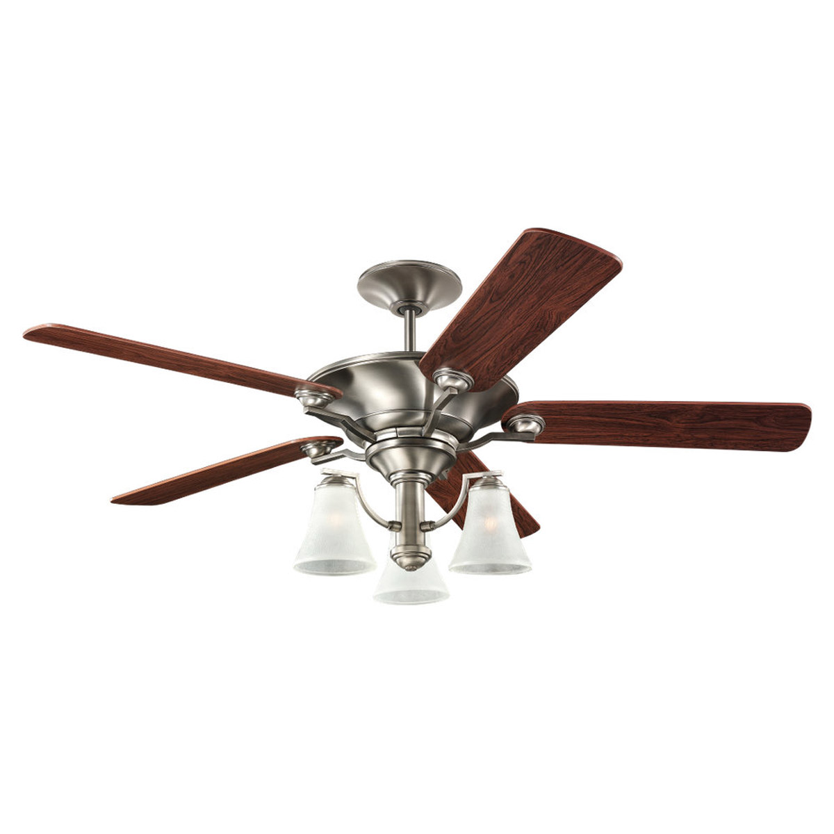 Sea Gull Lighting 3 Light 52in Somerton Ceiling Fan in Antique Brushed Nickel 15170B-965