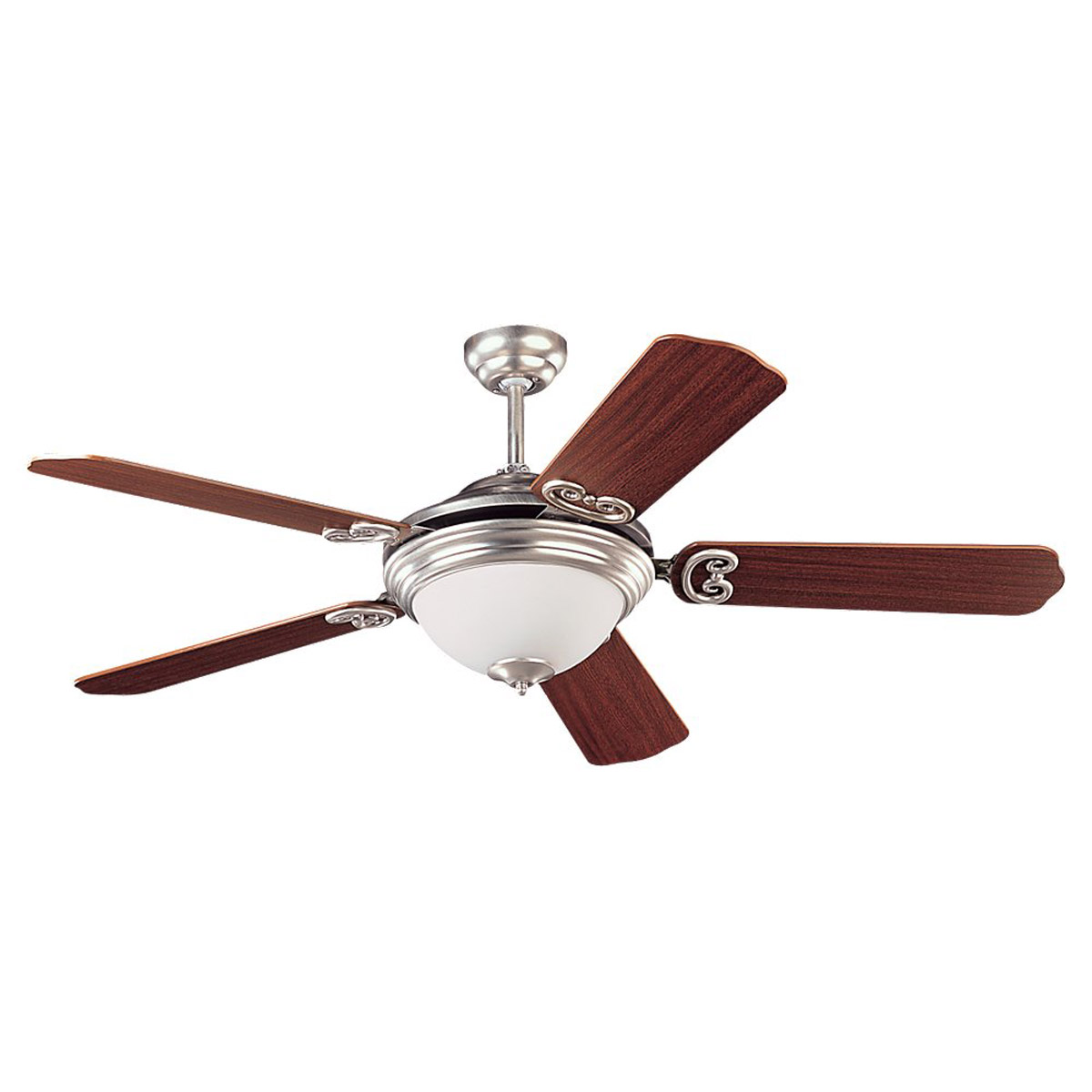 Sea Gull Lighting Park Avenue Elite 3 Light Ceiling Fan in Brushed Nickel 15190BLE-962