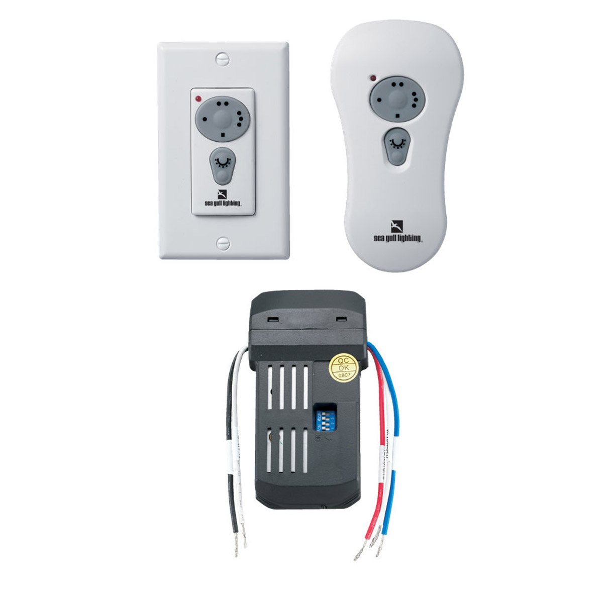 Sea Gull Lighting Ceiling Fan Controler Combo Remote Kit for Fluorescent in White 16006-15