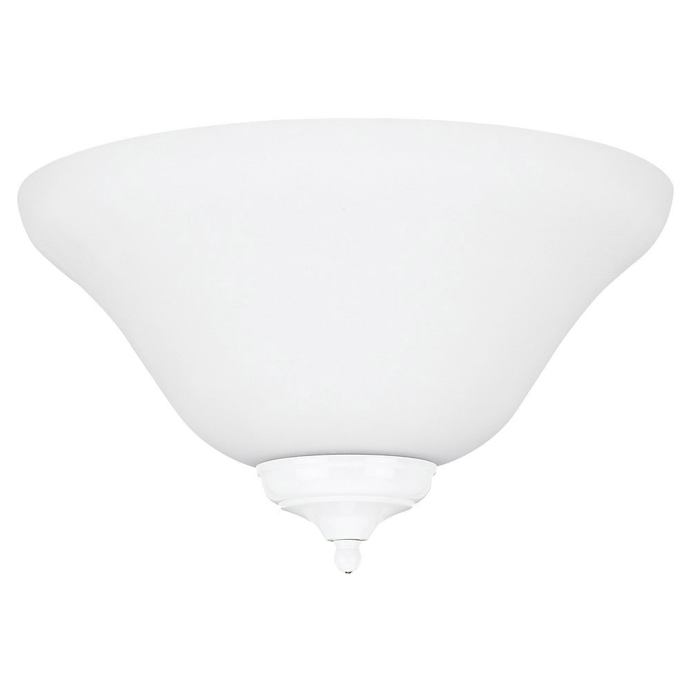Sea Gull 16120B-33 Signature 3 Light Satin White Fan Light Kit in Satin White Glass photo