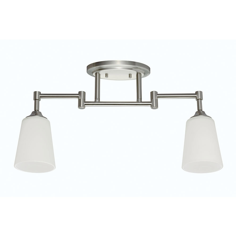 Sea Gull Track Lighting 2 Light Track Lighting Kit in Brushed Nickel 2530402-962