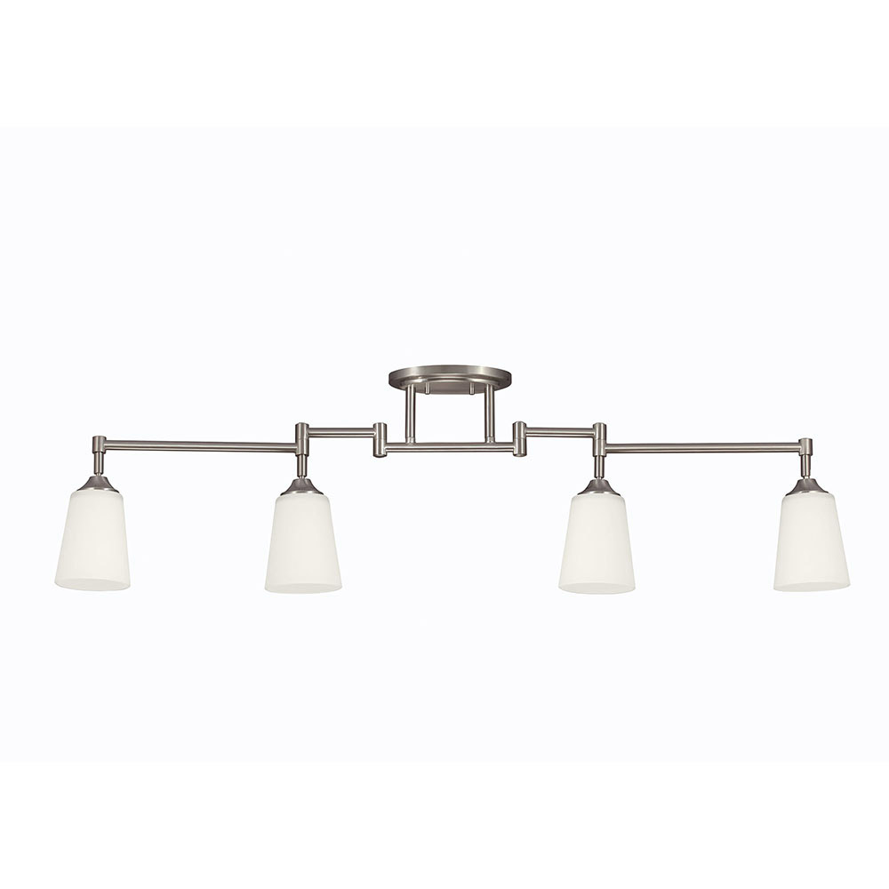 Sea Gull Track Lighting 4 Light Track Lighting Kit in Brushed Nickel 2530404-962