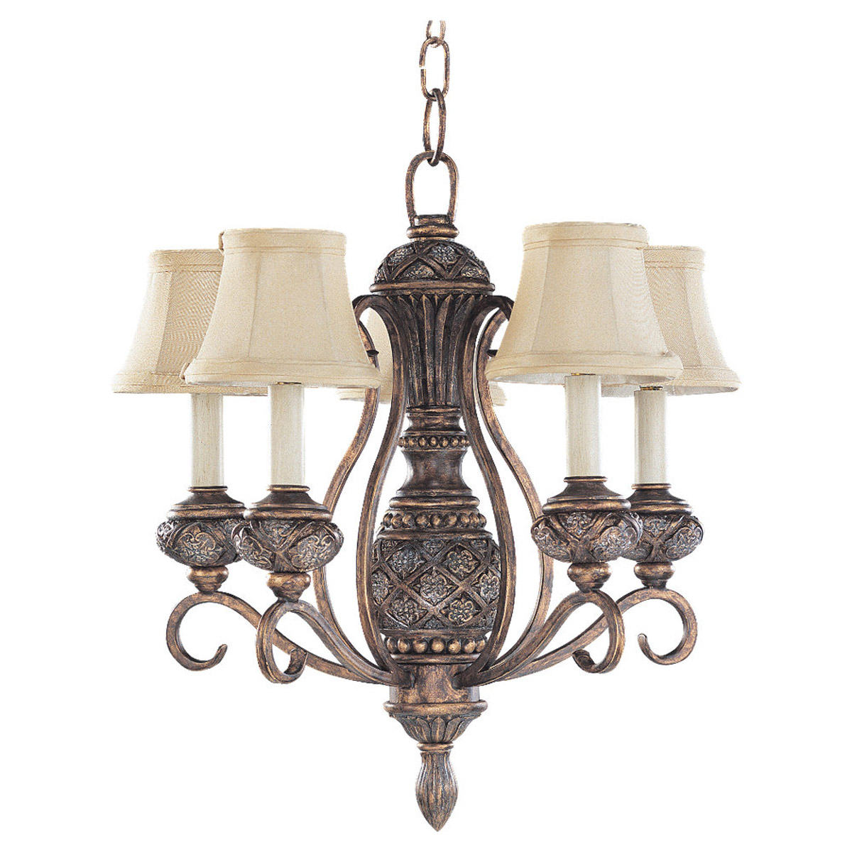 Sea Gull Lighting Highlands 5 Light Chandelier in Regal Bronze 30251-758 photo