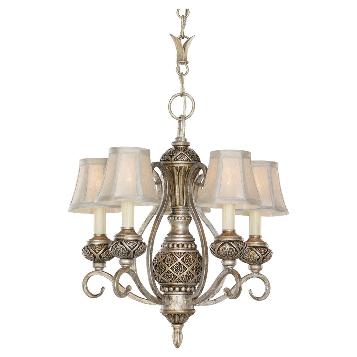 Sea Gull Lighting Highlands 5 Light Chandelier in Palladium 30251-824