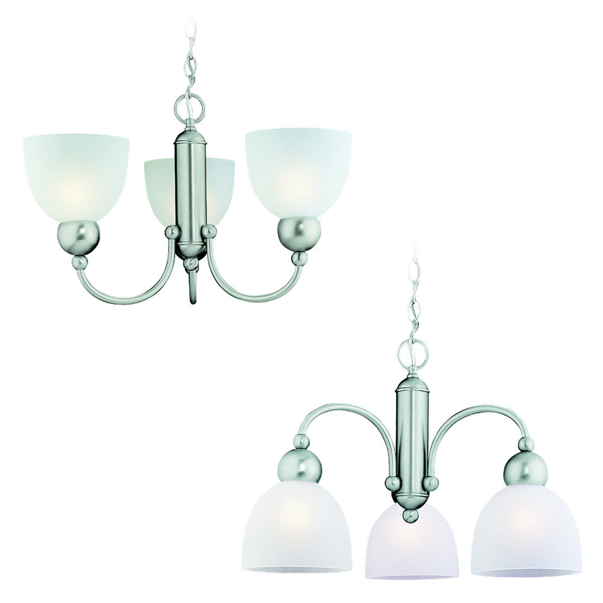 Sea Gull Lighting Metropolis 3 Light Chandelier in Brushed Nickel 31035-962