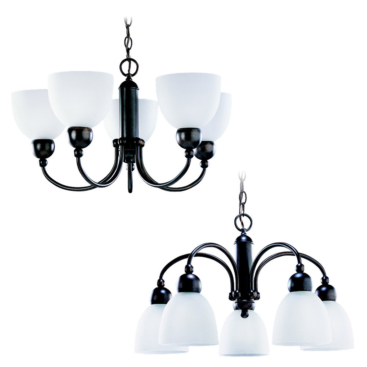 Sea Gull Lighting Metropolis 5 Light Chandelier in Copper Revival 31036-777