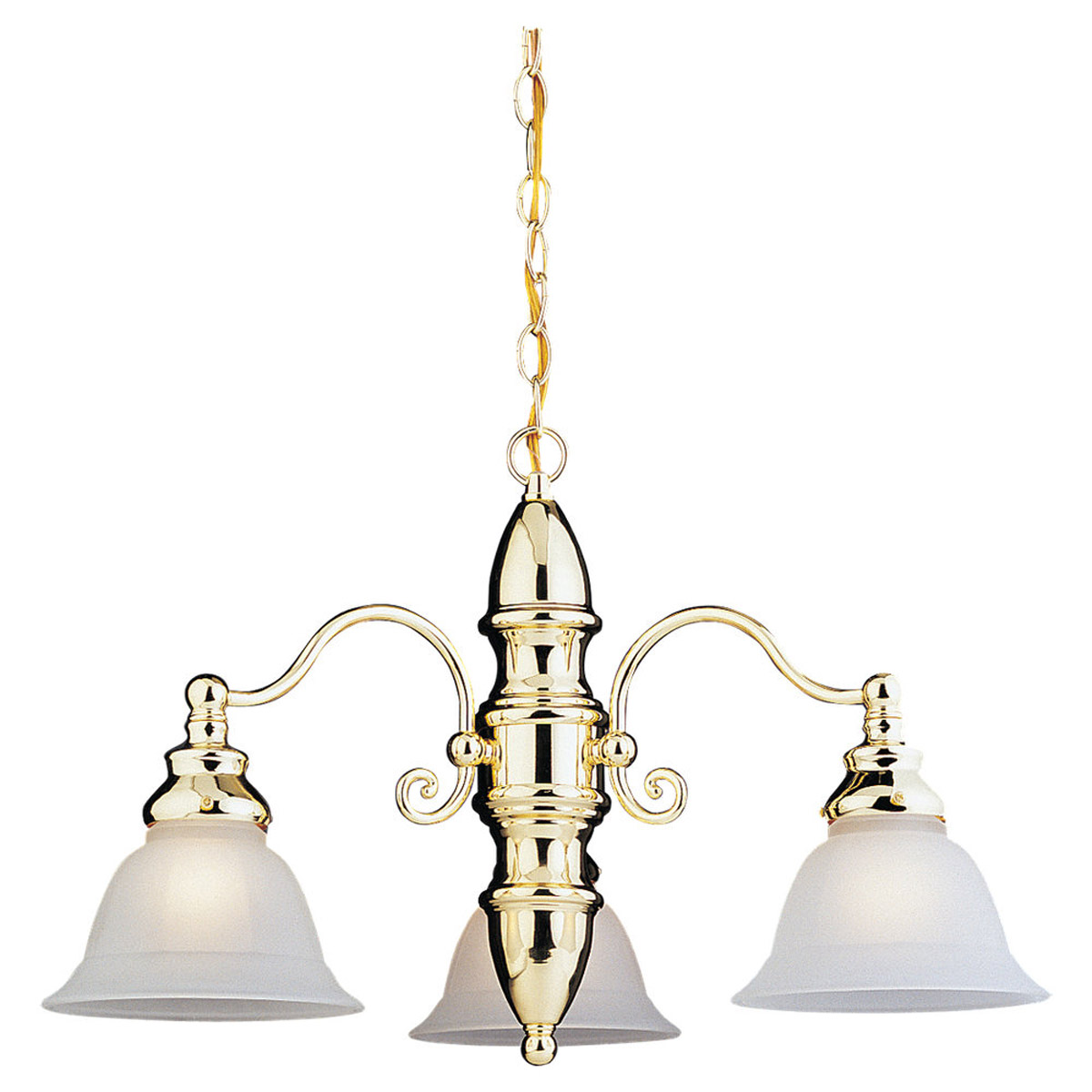 Sea Gull Lighting Canterbury 3 Light Chandelier in Polished Brass 31050-02