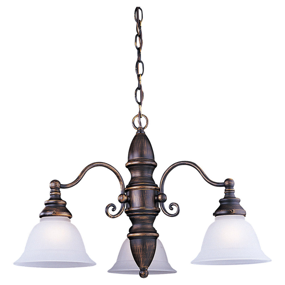 Sea Gull Lighting Canterbury 3 Light Chandelier in Antique Bronze 31050-71 photo