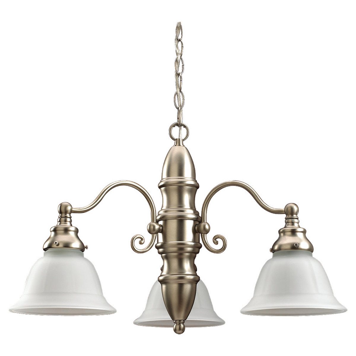 Sea Gull Lighting Canterbury 3 Light Chandelier in Brushed Nickel 31050-962