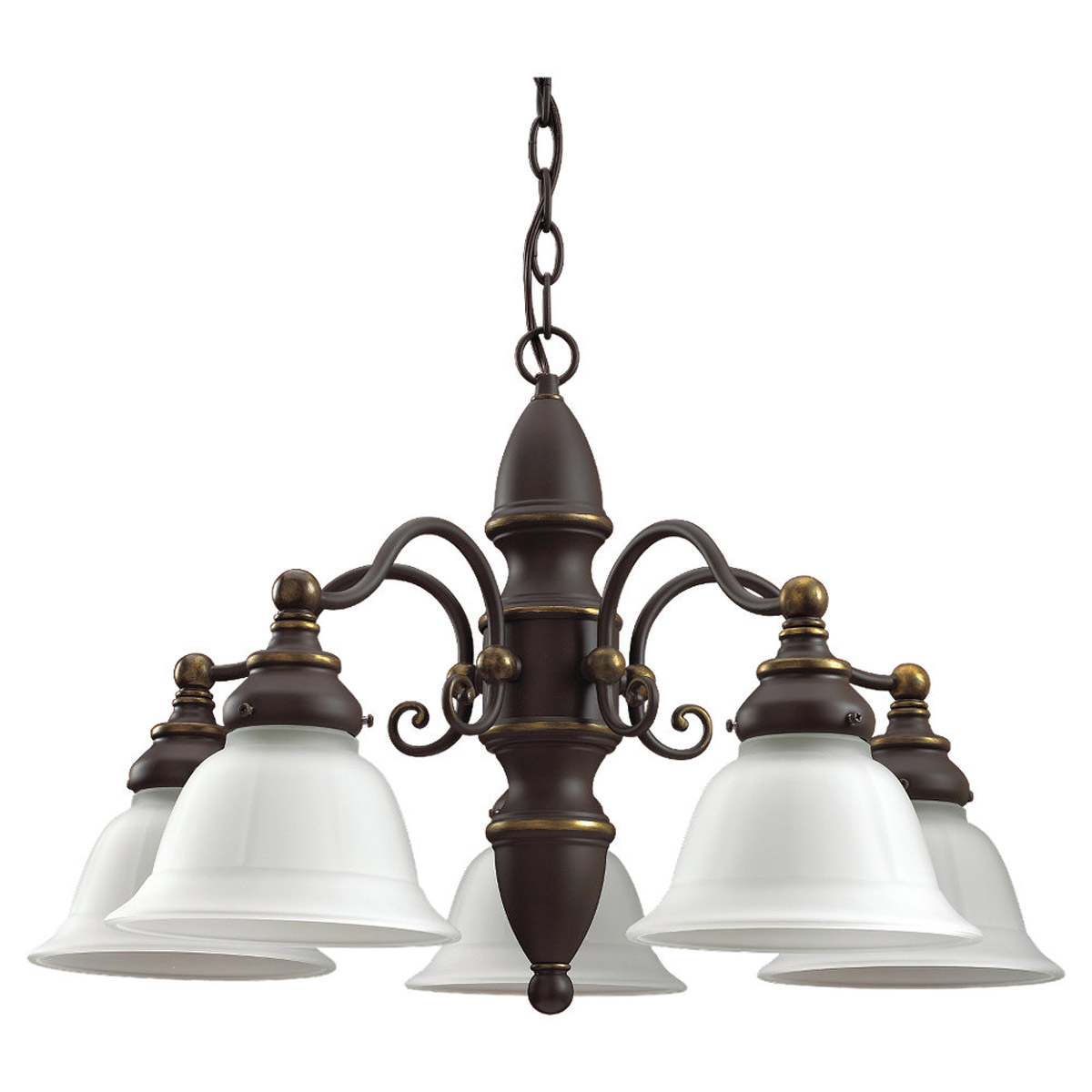 Sea Gull Lighting Canterbury 5 Light Chandelier in Antique Bronze 31051-71
