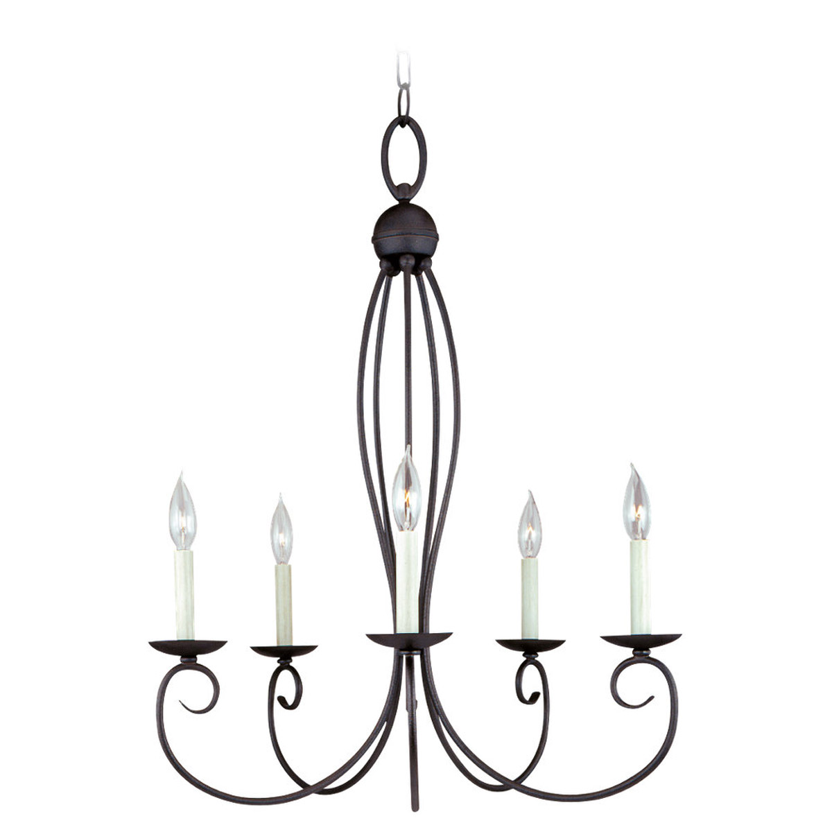 Sea Gull Lighting Pemberton 5 Light Chandelier in Peppercorn 31074-799