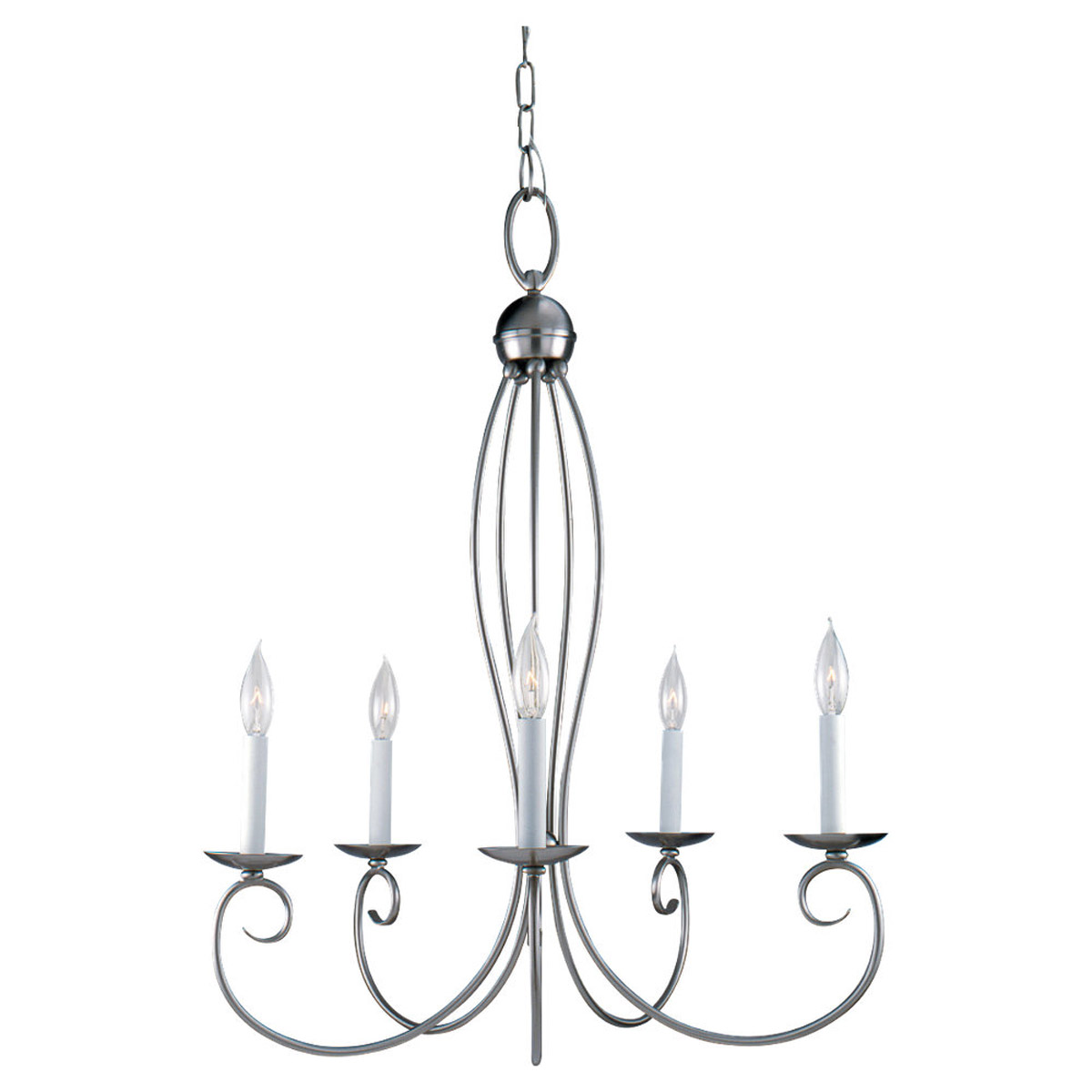 Sea Gull 31074-962 Pemberton 5 Light 24 inch Brushed Nickel Chandelier Ceiling Light photo
