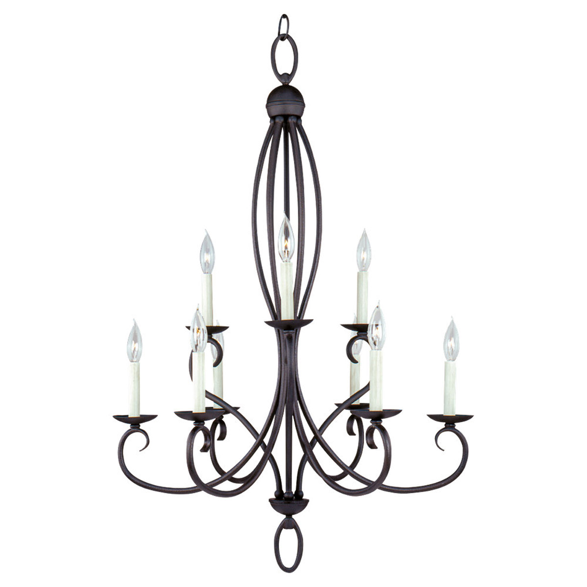 Sea Gull Lighting Pemberton 9 Light Chandelier in Peppercorn 31075-799