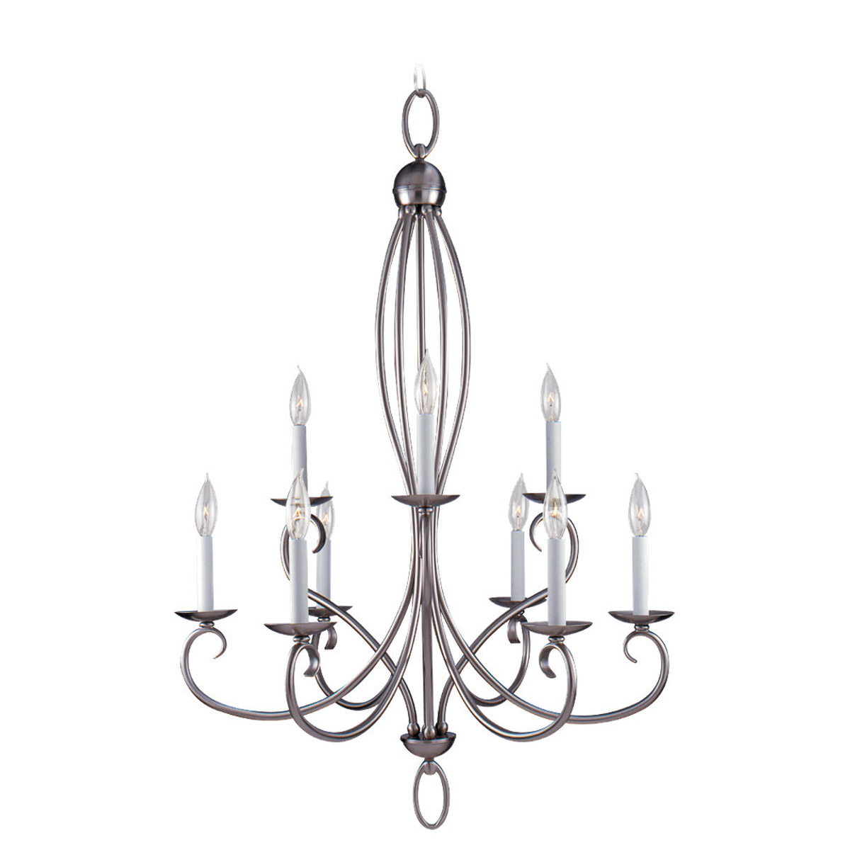 Sea Gull Lighting Pemberton 9 Light Chandelier in Brushed Nickel 31075-962