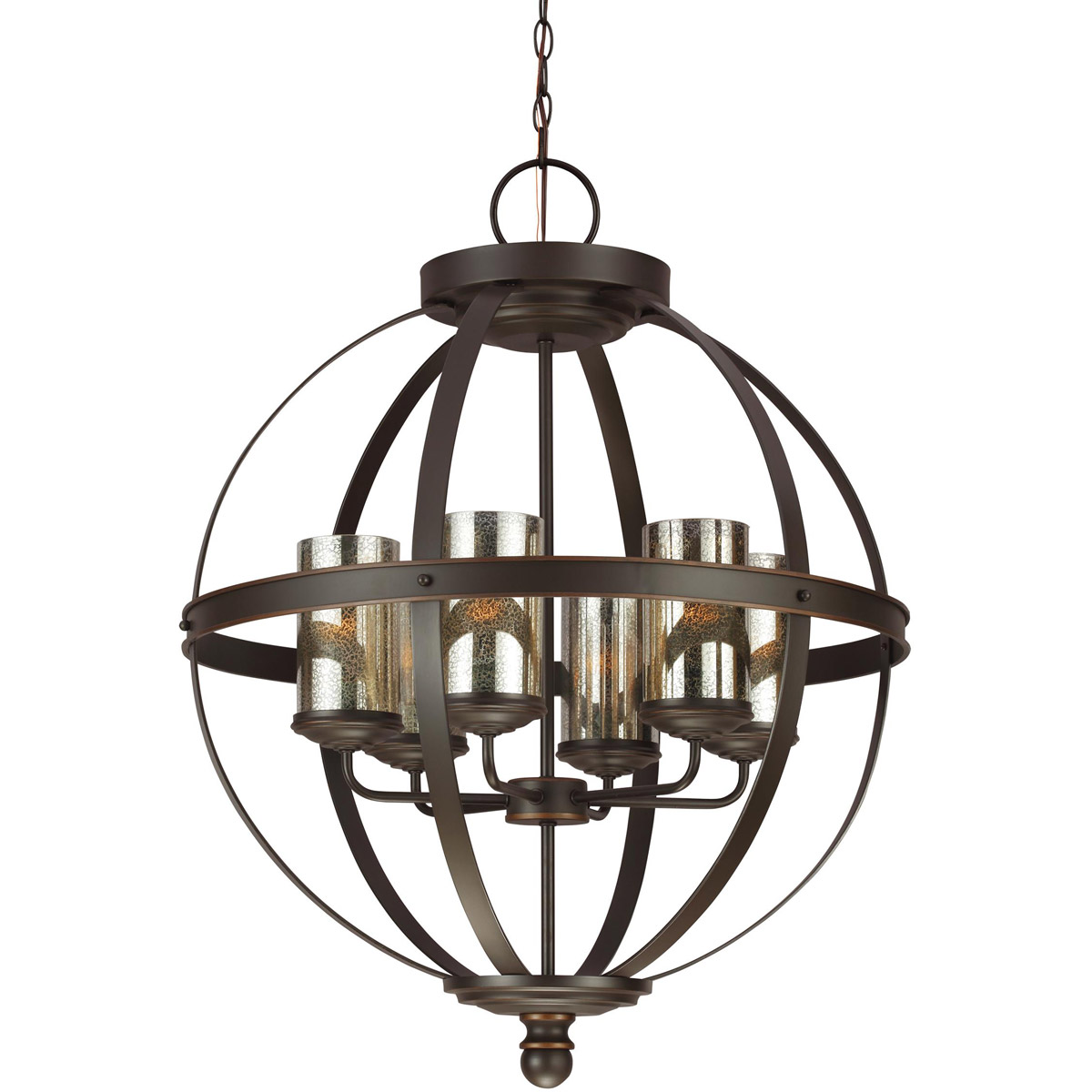 Sea Gull Steel Sfera Chandeliers