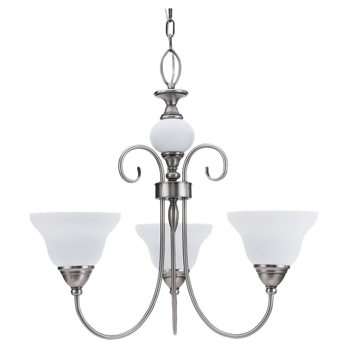 Sea Gull Lighting Montclaire 3 Light Chandelier in Antique Brushed Nickel 31105BLE-965