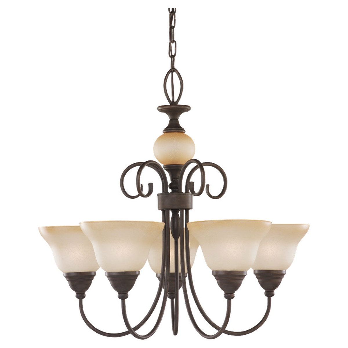 Sea Gull Lighting Montclaire 5 Light Chandelier in Olde Iron 31106-72