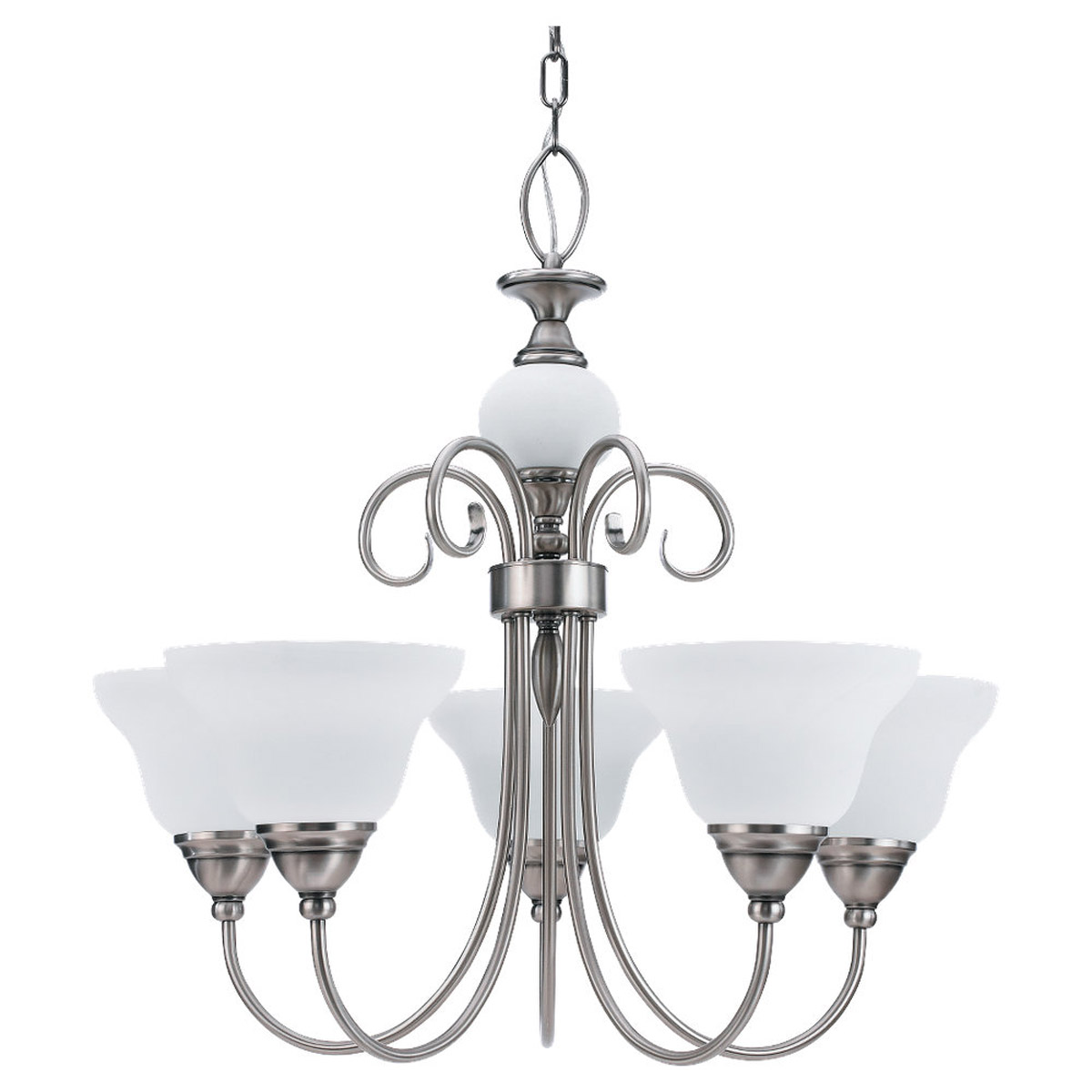 Sea Gull Lighting Montclaire 5 Light Chandelier in Antique Brushed Nickel 31106BLE-965