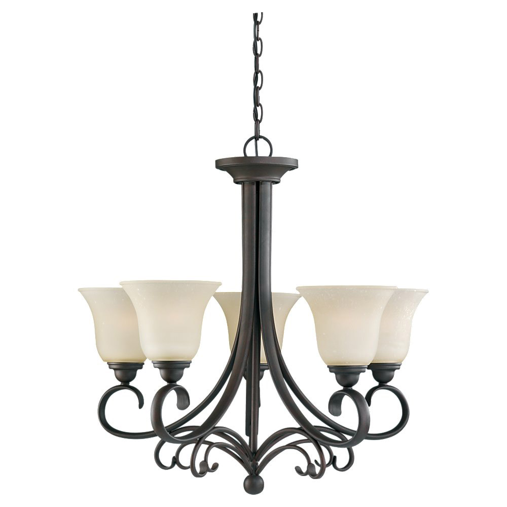 Sea Gull Lighting Del Prato 5 Light Chandelier in Chestnut Bronze 31122-820