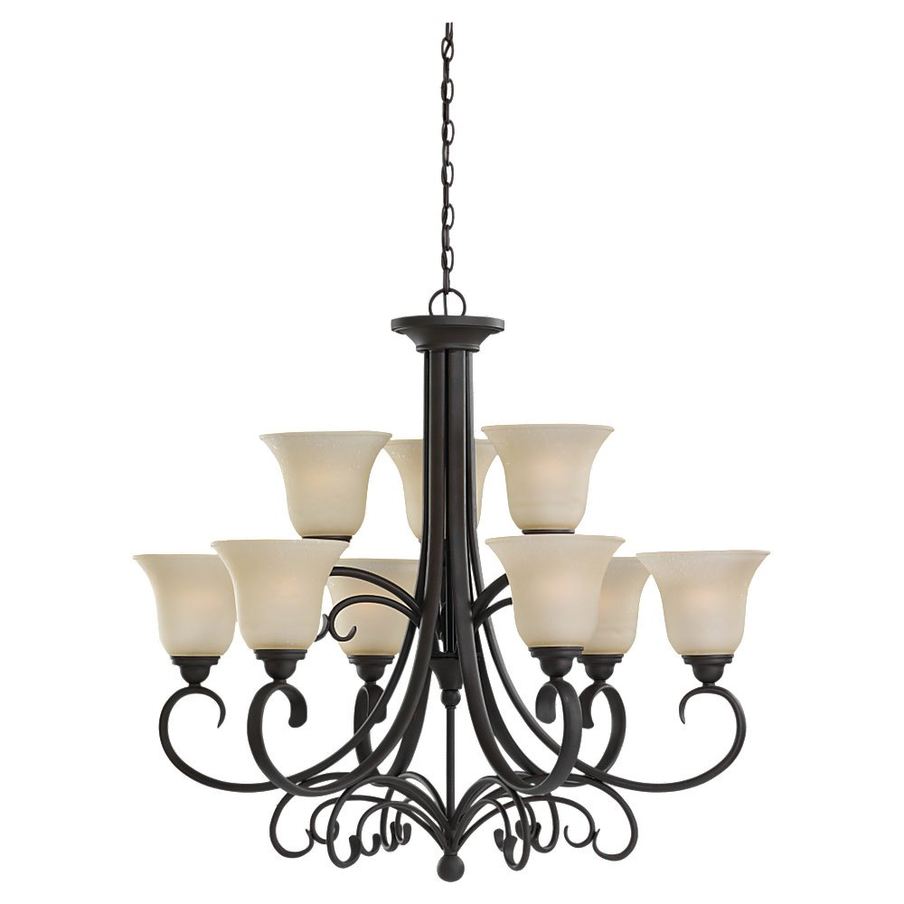 Sea Gull Lighting Del Prato 9 Light Chandelier in Chestnut Bronze 31123-820