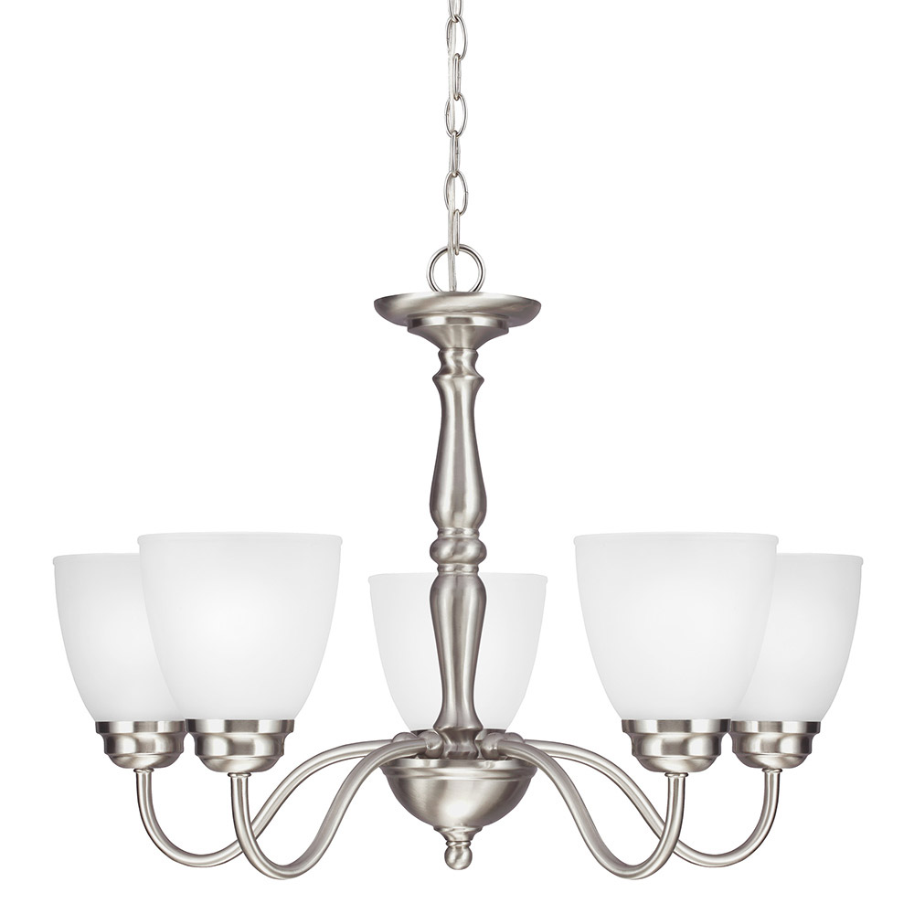 Sea Gull 3112405-962 Northbrook 5 Light 25 inch Brushed Nickel Chandelier Single-Tier Ceiling Light in Standard photo