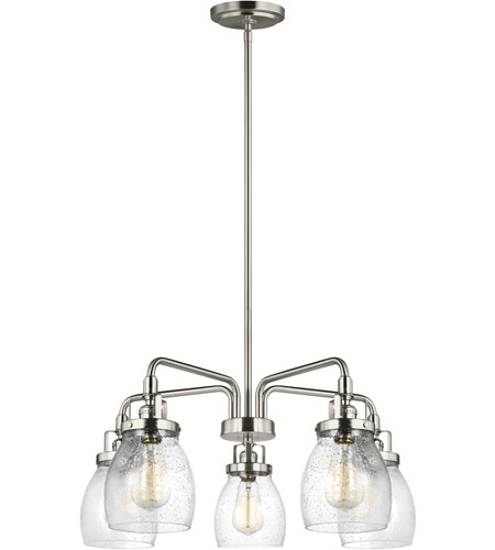 Sea Gull 3114505 962 Belton 5 Light 24 Inch Brushed Nickel Chandelier Ceiling