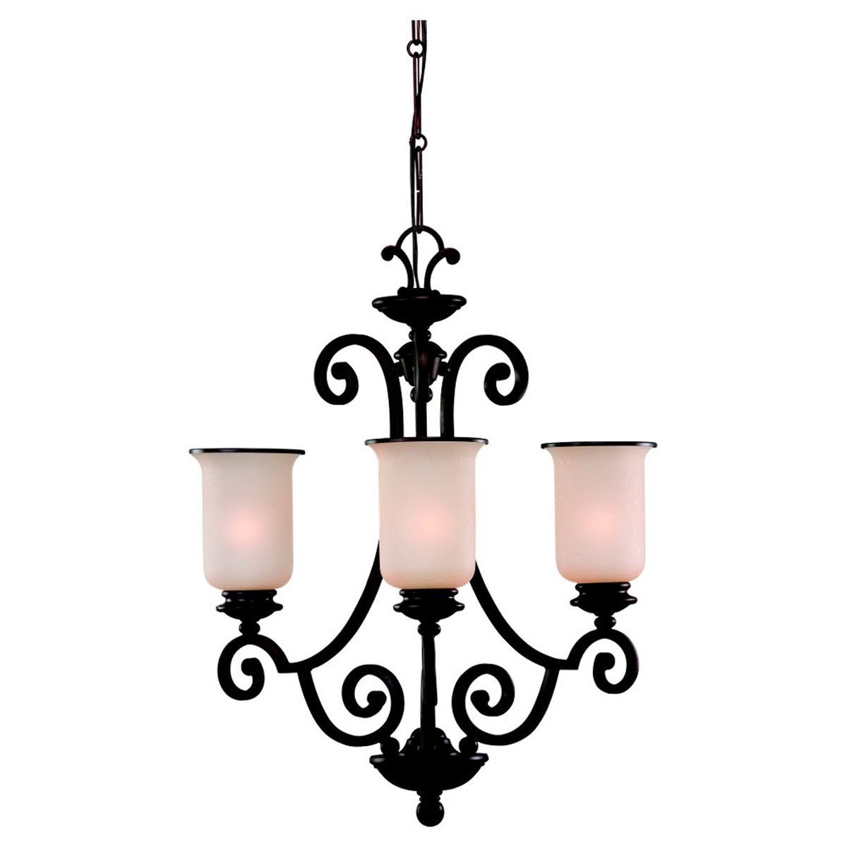 Sea Gull Lighting Acadia 3 Light Chandelier in Misted Bronze 31145BLE-814