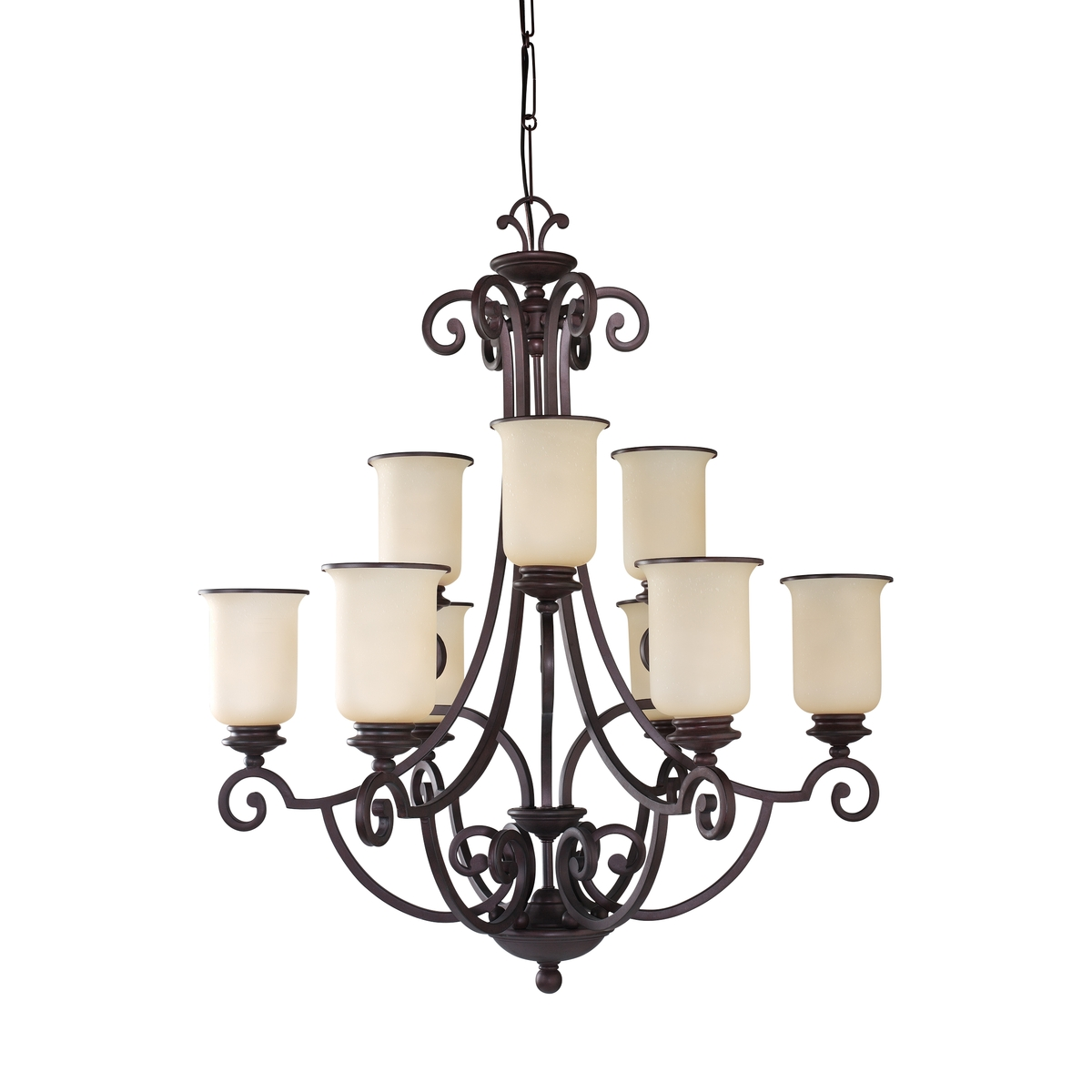 Sea Gull Lighting Acadia 9 Light Chandelier in Misted Bronze 31147-814 photo