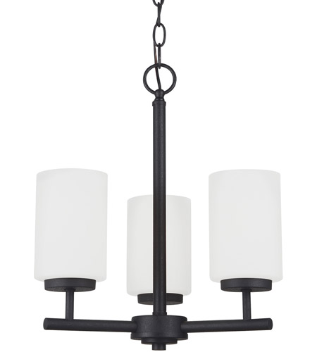 Sea Gull Lighting Oslo 3 Light Chandelier in Blacksmith 31160-839
