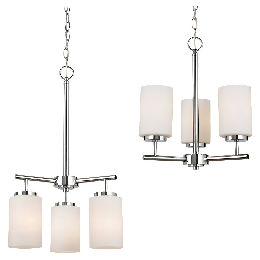 Sea Gull Lighting Oslo 3 Light Chandelier in Chrome 31160BLE-05