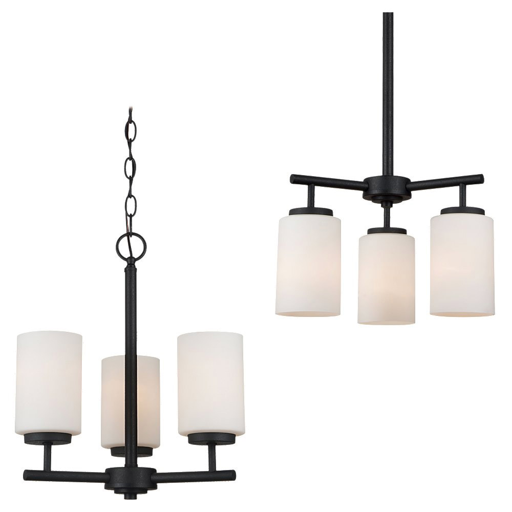 Sea Gull Lighting Oslo 3 Light Chandelier in Blacksmith 31160BLE-839