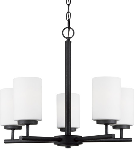 Sea Gull Lighting Oslo 5 Light Chandelier in Blacksmith 31161-839