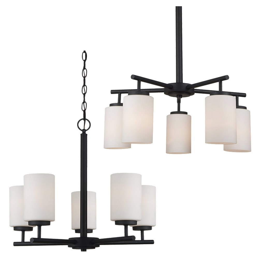 Sea Gull Lighting Oslo 5 Light Chandelier in Blacksmith 31161BLE-839