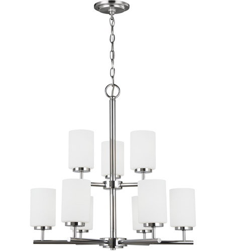 Sea Gull 31162-05 Oslo 9 Light 26 inch Chrome Chandelier Ceiling Light in Standard photo