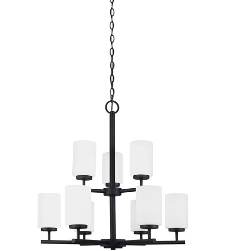 Sea Gull Lighting Oslo 9 Light Chandelier in Blacksmith 31162-839