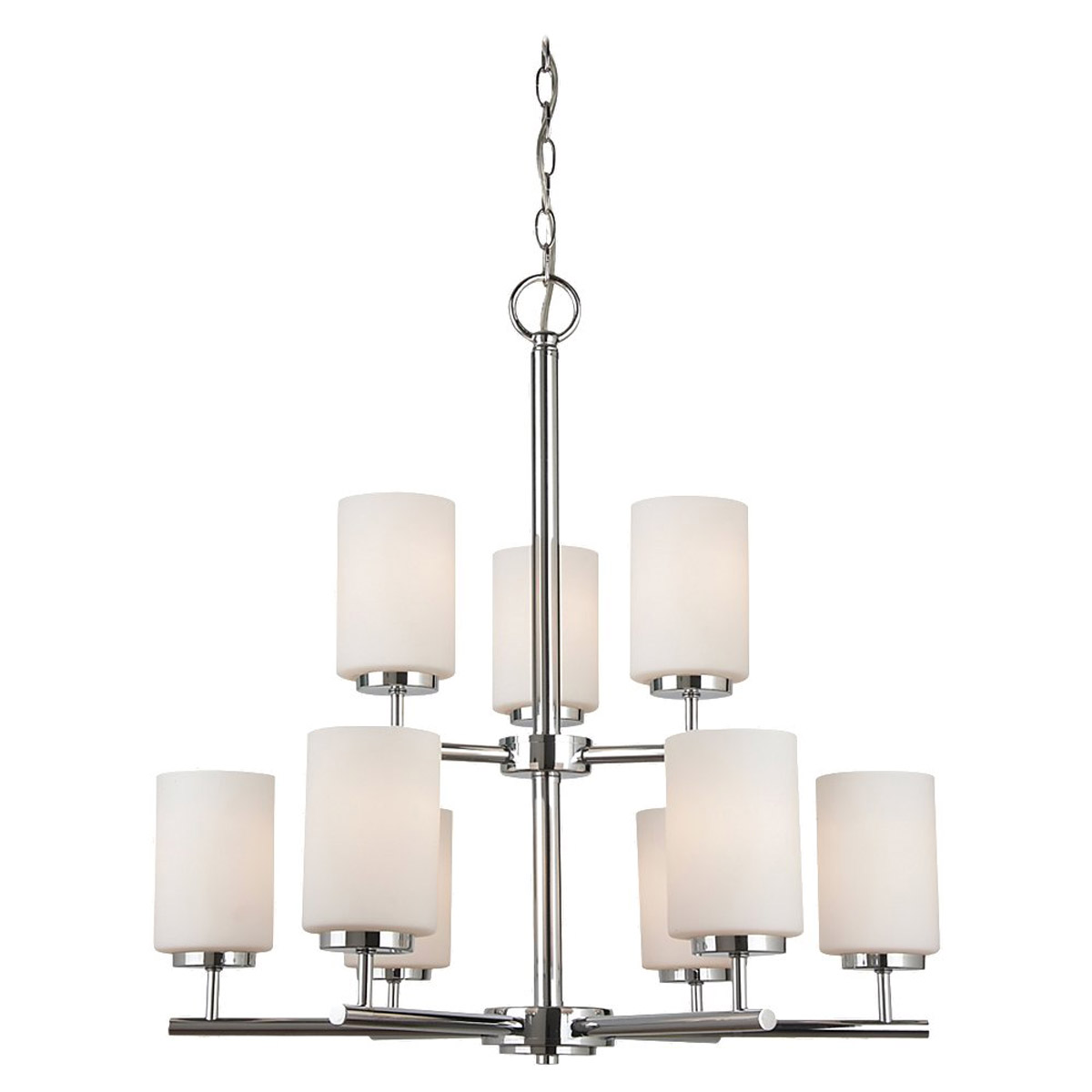 Sea Gull Lighting Oslo 9 Light Chandelier in Chrome 31162BLE-05