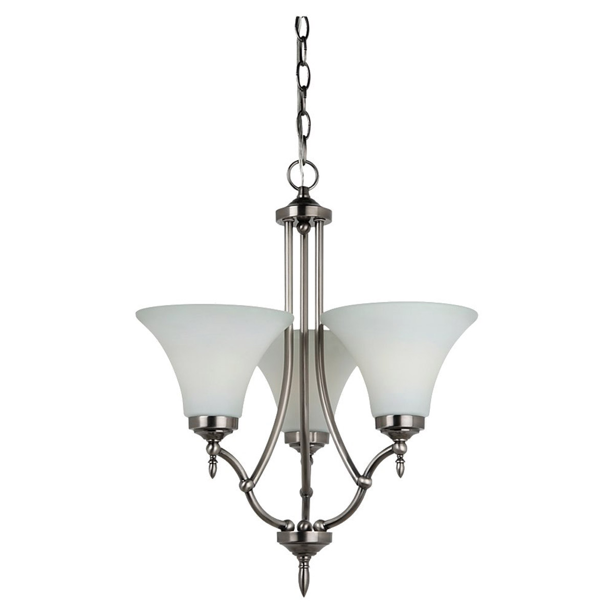 Sea Gull Lighting Montreal 3 Light Chandelier in Antique Brushed Nickel 31180-965