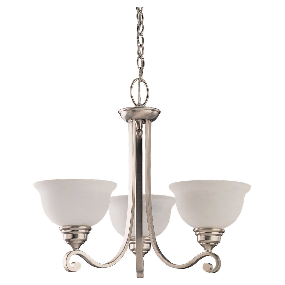 Sea Gull Lighting Serenity 3 Light Chandelier in Brushed Nickel 31190-962