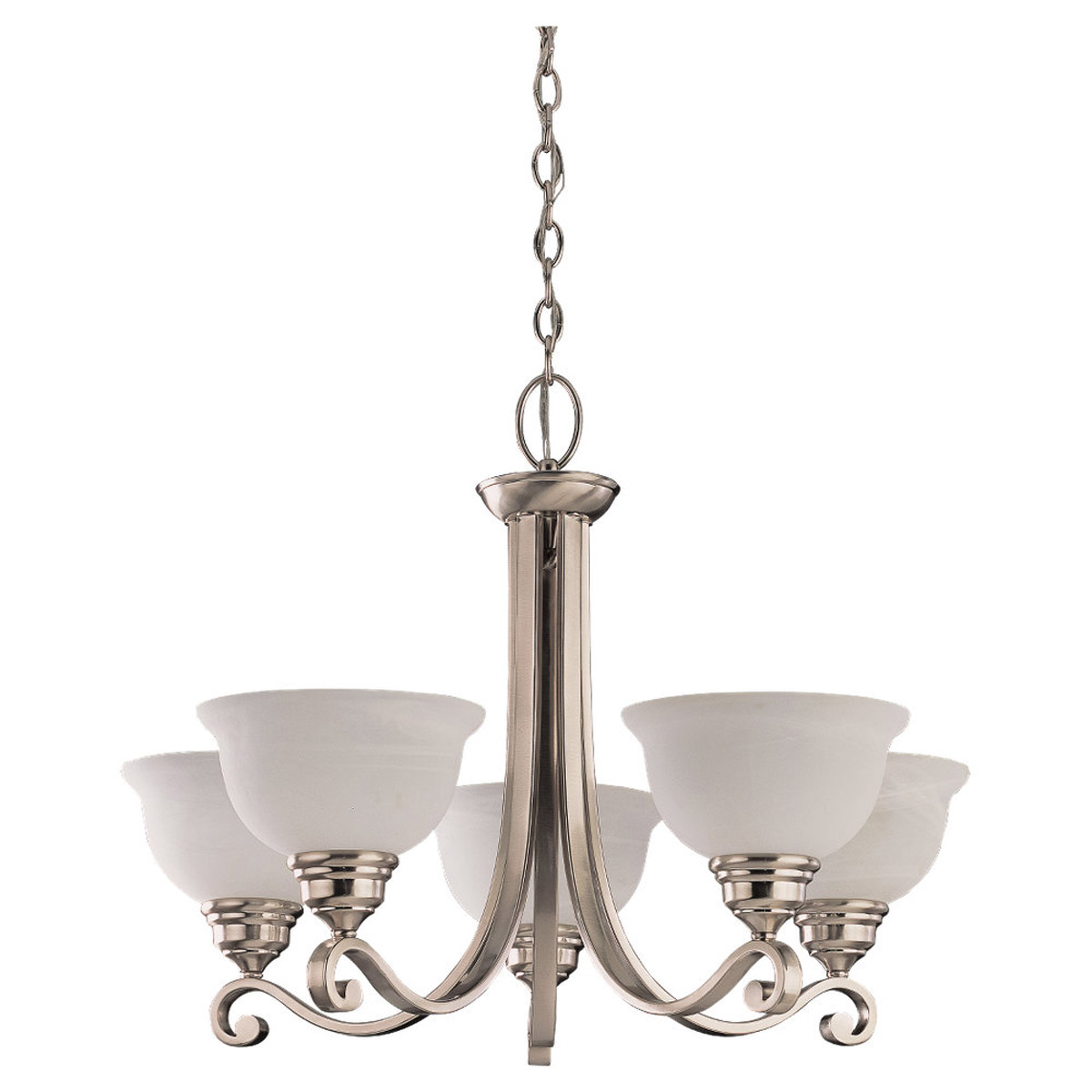 Sea Gull Lighting Serenity 5 Light Chandelier in Brushed Nickel 31191-962