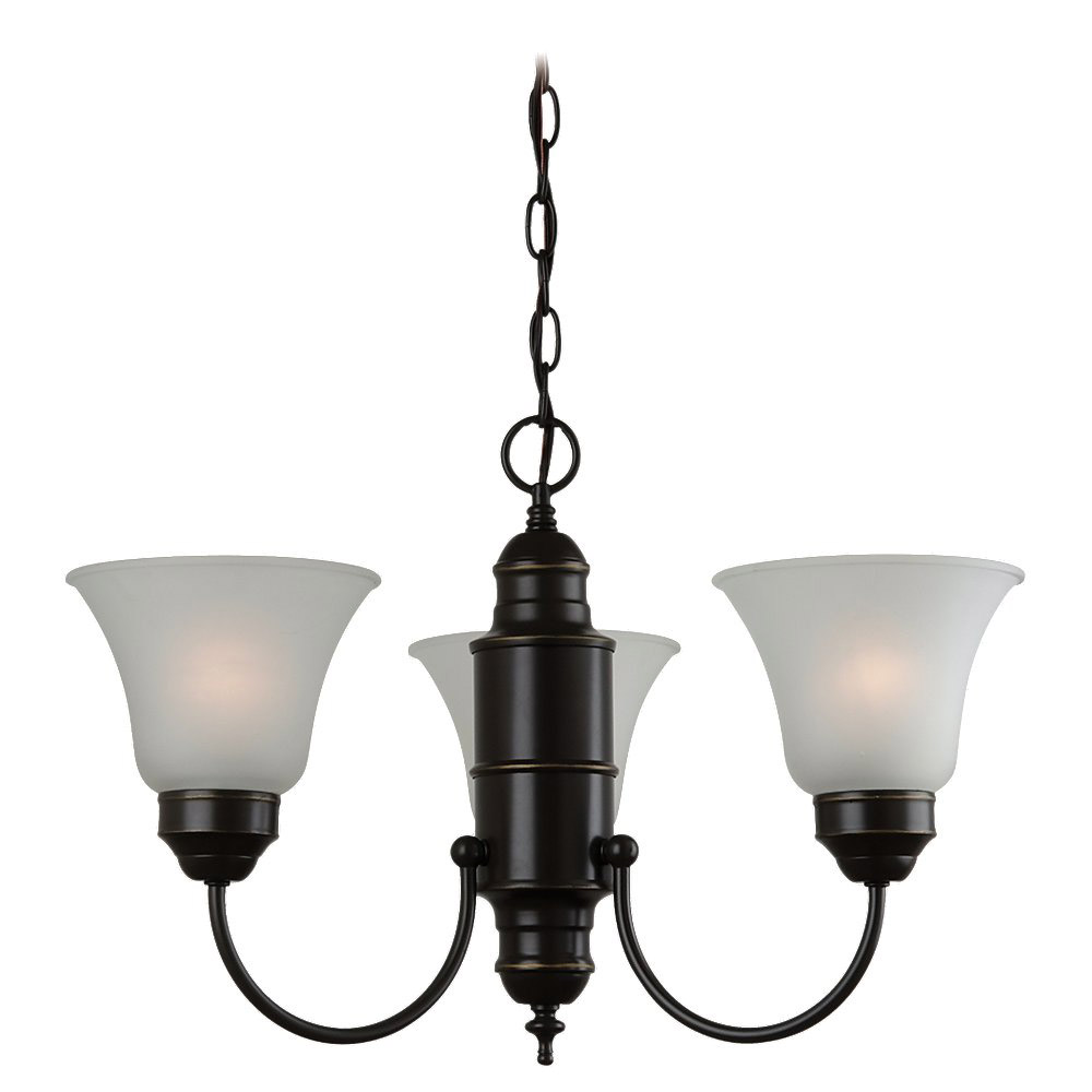 Sea Gull Lighting Linwood 3 Light Chandelier in Heirloom Bronze 31235-782