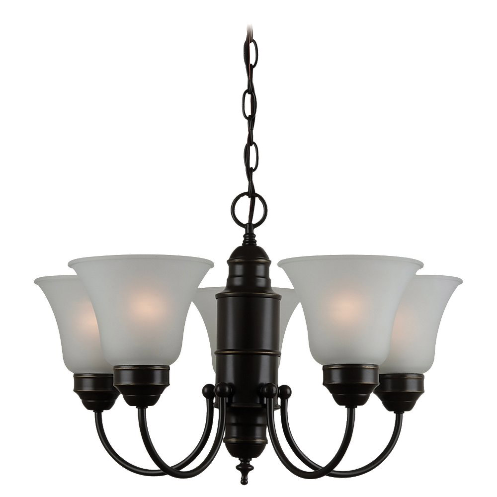 Sea Gull Lighting Linwood 5 Light Chandelier in Heirloom Bronze 31236-782