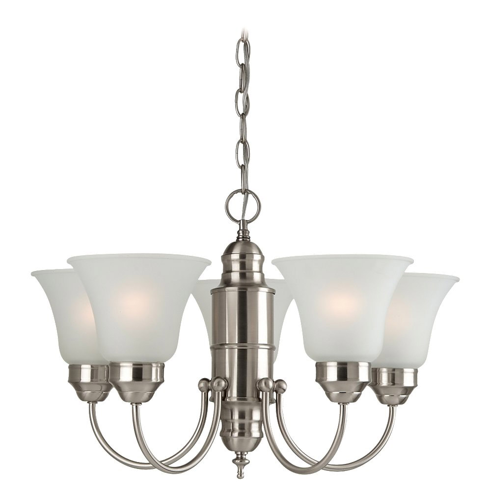 Sea Gull Lighting Linwood 5 Light Chandelier in Brushed Nickel 31236-962