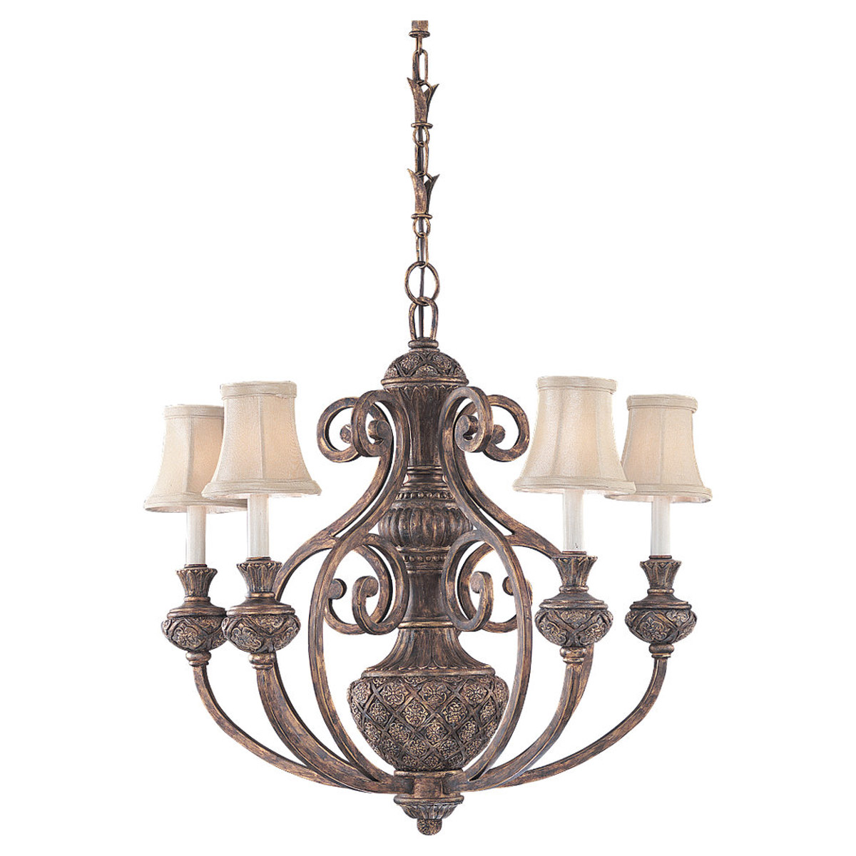 Sea Gull Lighting Highlands 5 Light Chandelier in Regal Bronze 31251-758