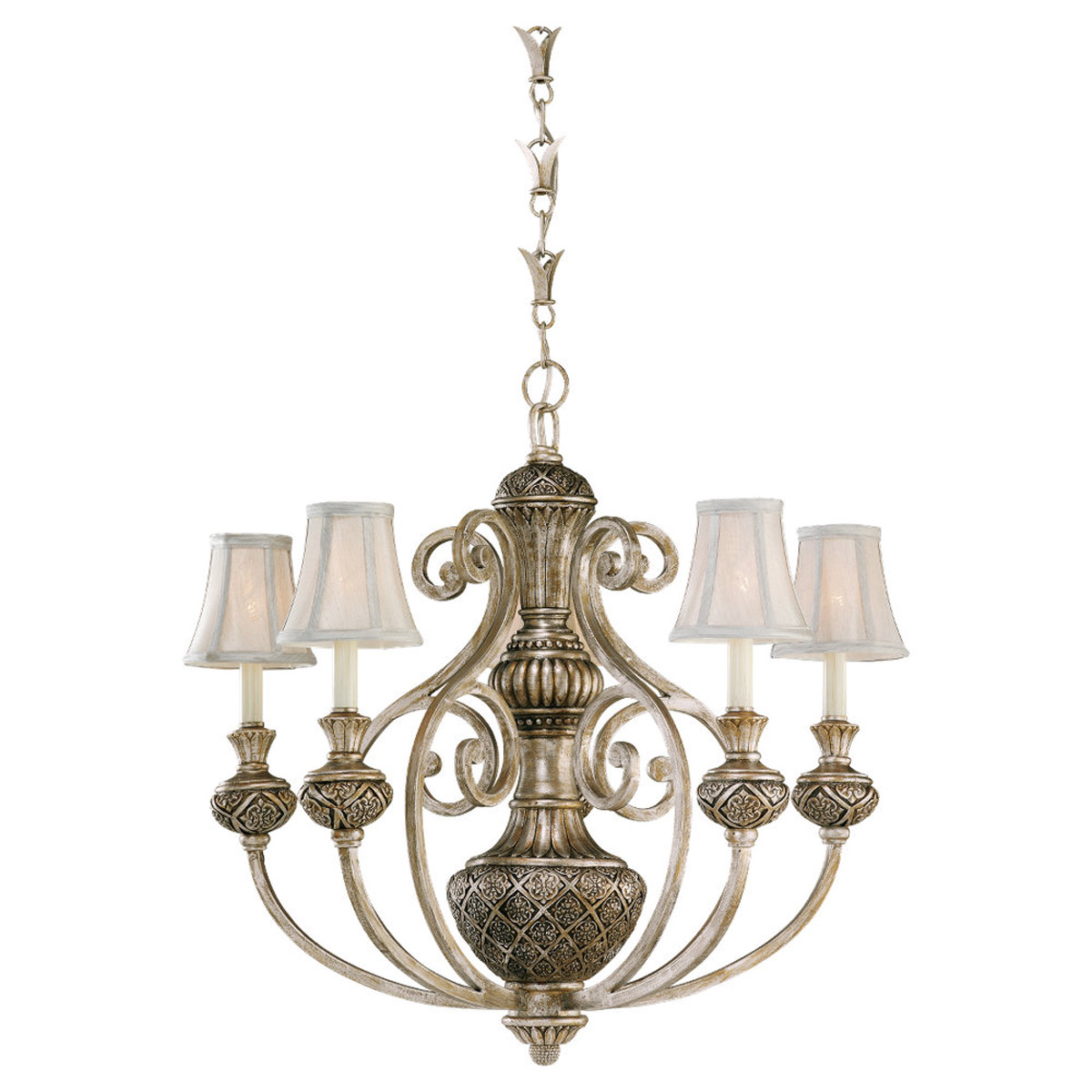 Sea Gull Lighting Highlands 5 Light Chandelier in Palladium 31251-824 photo
