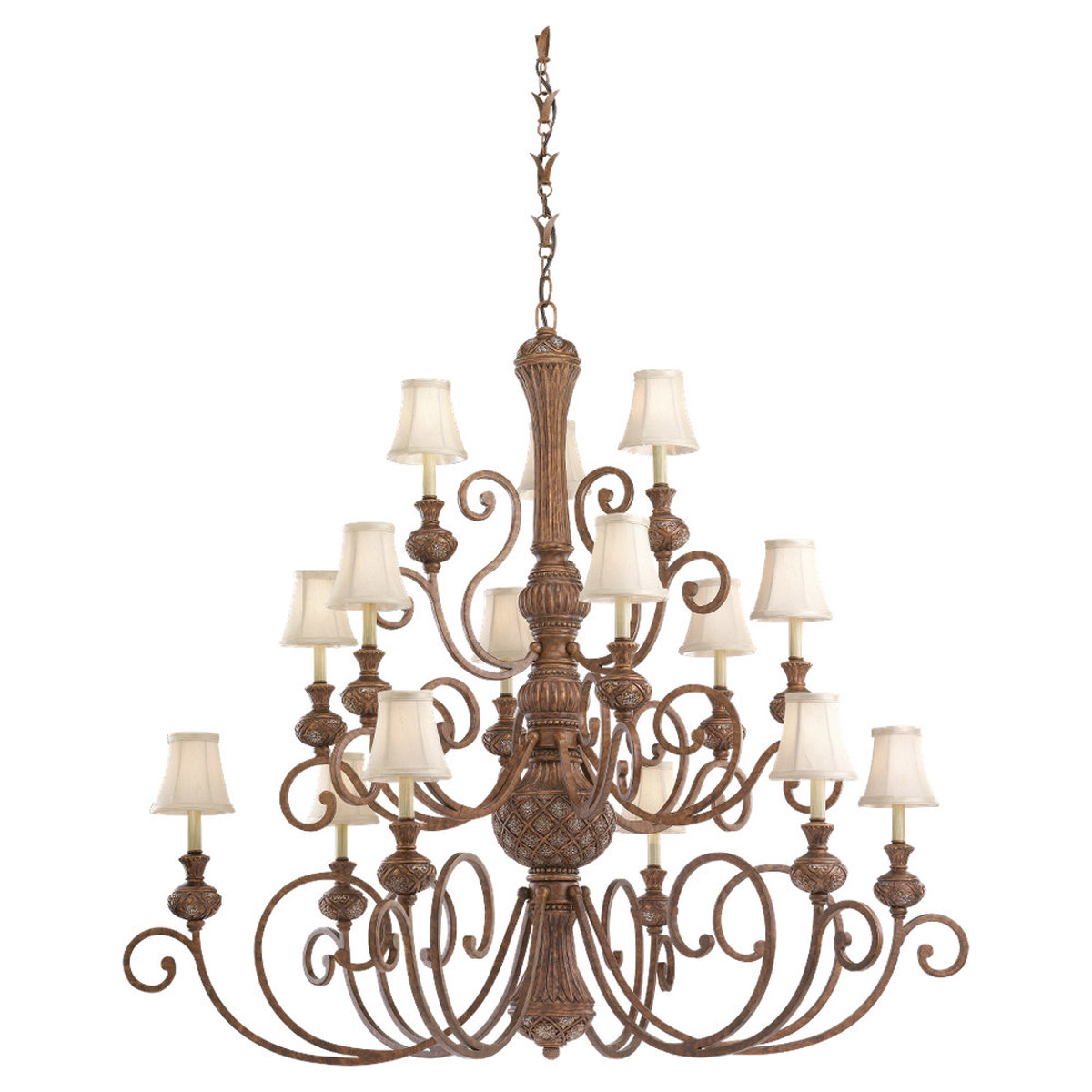 Sea Gull Lighting Highlands 15 Light Chandelier in Regal Bronze 31253-758 photo