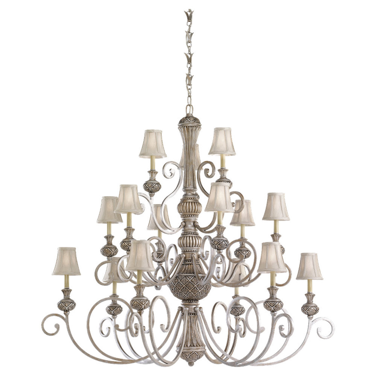 Sea Gull Lighting Highlands 15 Light Chandelier in Palladium 31253-824 photo